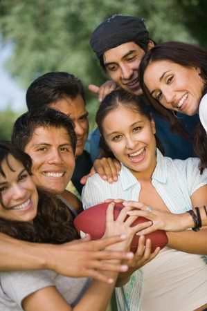 Friends Playing Football Stock Photo - 5412283