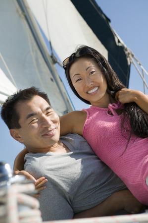 Couple on Sailboat Stock Photo - 5412315