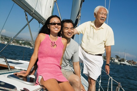 Family on Sailboat Stock Photo - 5412316