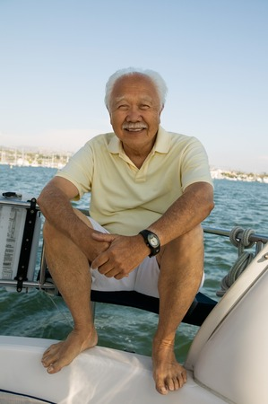 one mature man only: Man on Sailboat