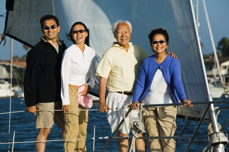 Couple Sailing with Parents Stock Photo - 5412329