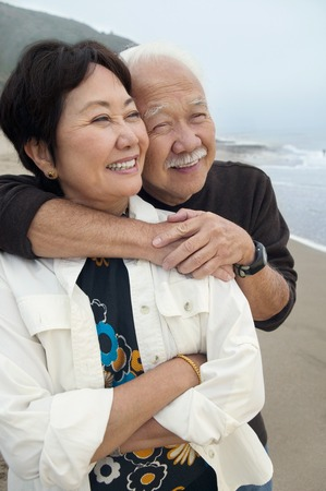 Mature Couple at Beach LANG_EVOIMAGES