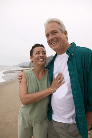 Couple at Beach Stock Photo - 5412370