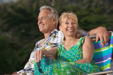 Smiling Middle-Aged Couple Relaxing Stock Photo - 5412373