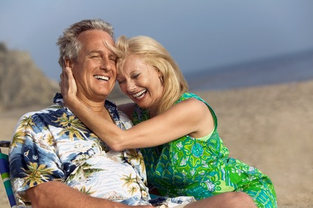only mature women: Middle-Aged Couple at Beach