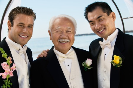 Groom With Father and Best Man Stock Photo - 5412420