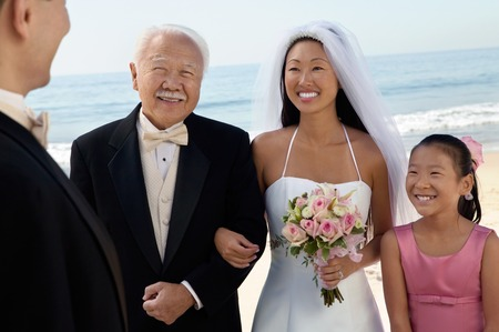 wedding customs: Bride and Groom With Family
