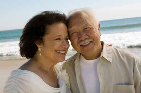 racially diverse: Senior Newlyweds LANG_EVOIMAGES