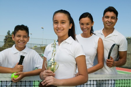 early teens: Tennis Family