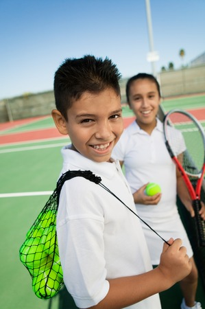 Young Tennis Players Stock Photo - 5419867