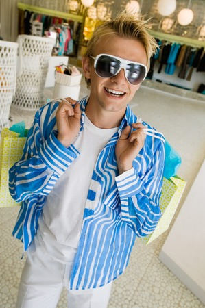 Man Shopping in Boutique Stock Photo - 5419963