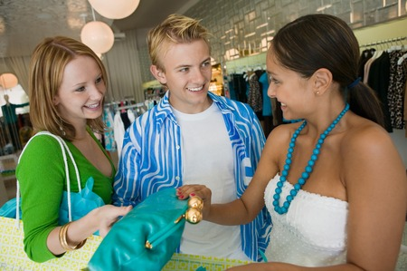 Friends Shopping at Clothing Store Stock Photo - 5419968