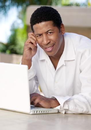Man Using Laptop Stock Photo - 5419970