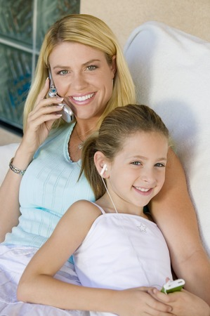 Mother and Daughter Sitting Together Stock Photo - 5420030