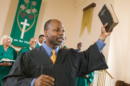 Preacher Preaching the Gospel Stock Photo - 5428315