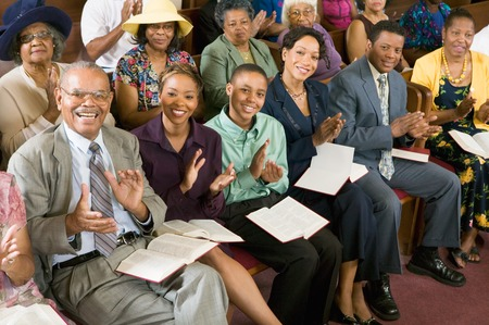 Congregation Clapping at Church Stock Photo - 5428319
