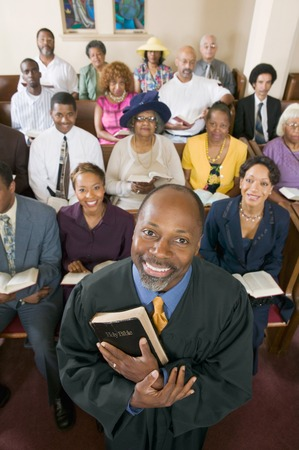 Preacher and Congregation Stock Photo - 5428321
