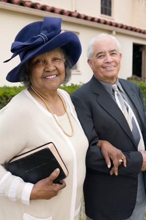 spiritual woman: Senior Couple Going to Church on Sunday LANG_EVOIMAGES
