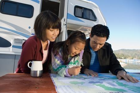 Family Road Trip Banque d'images