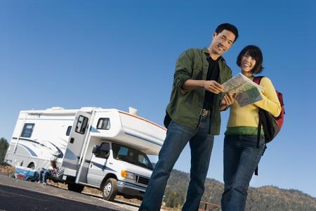Couple on Road Trip Stock Photo - 5428336