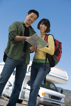 Couple on a Road Trip Stock Photo - 5428350