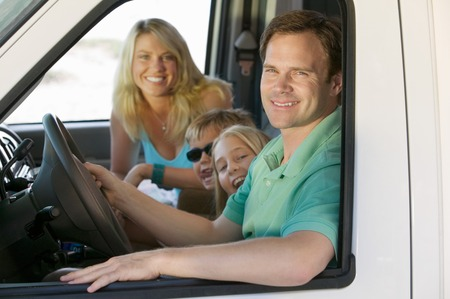 Family in RV on Vacation Stock Photo - 5428363