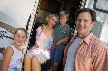 Family on Vacation in RV Stock Photo - 5428376