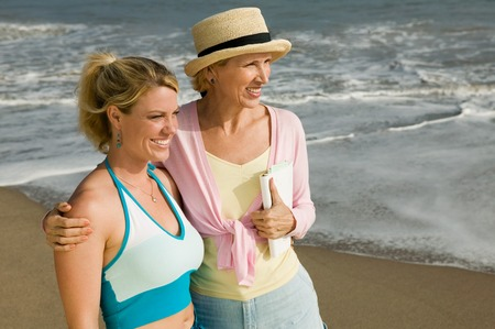 Mother and Daughter on Beach Stock Photo - 5428384