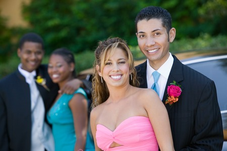 Couples on Their Way to Prom Stock Photo - 5428388