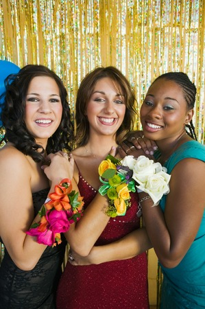 ethnic mixes: Teenagers at Dance Showing Corsages LANG_EVOIMAGES