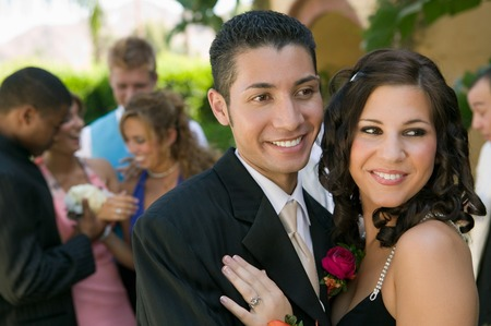 Teenage Couple at Prom Stock Photo - 5428414