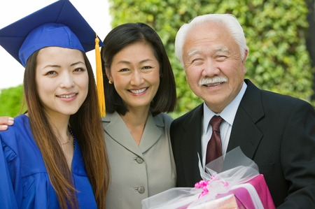 licenciado: Familia en la graduaci�n