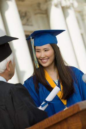 alumnae: Graduate Receiving Her Diploma