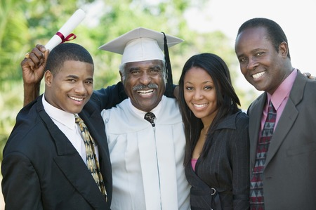 elated: Graduate with Sons and Daughter