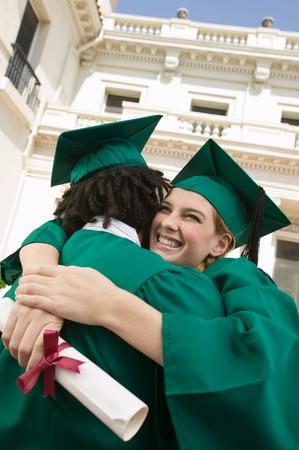 alumnae: Graduates Hugging