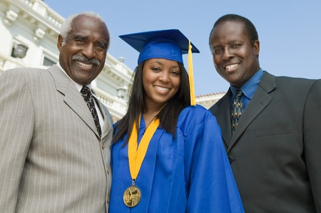 Graduate with Father and Grandfather Stock Photo - 5428462