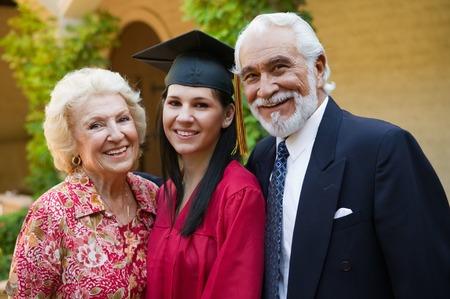 Graduate and Grandparents Stock Photo - 5428481