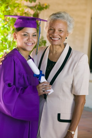 Graduate and Proud Grandmother Stock Photo - 5428490