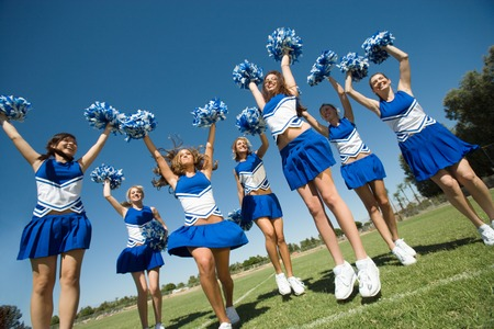cheerleading squad: Cheerleading Squad Performing Cheer