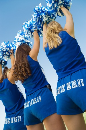 cheerleading squad: Back View of Cheerleaders LANG_EVOIMAGES