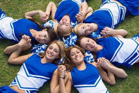 Cheerleaders Arranged in Circle Stock Photo - 5428503