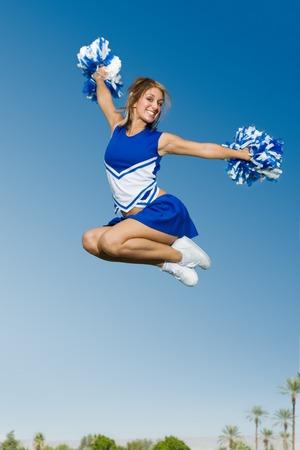 porrista: Cheerleader Cheer esc�nicas en el aire LANG_EVOIMAGES