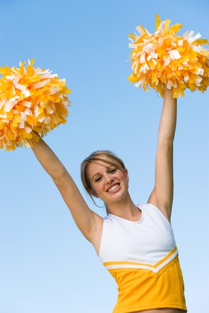 lifted hands: Cheerleader LANG_EVOIMAGES