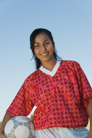 Smiling Soccer Player Stock Photo - 5435737