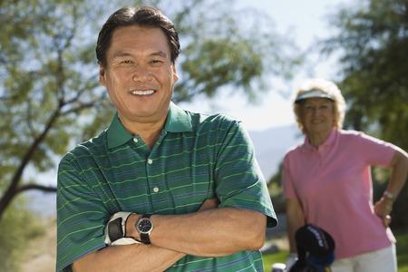seres vivos: Golfista sonriente