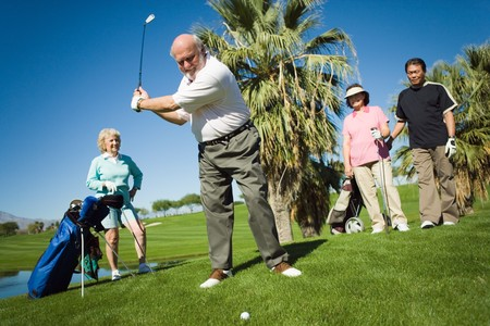 Senior Golfers Stock Photo - 5435765