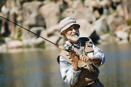 one mature man only: Fisherman Casting