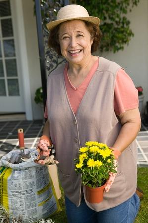Senior Woman Gardening Stock Photo - 5435826