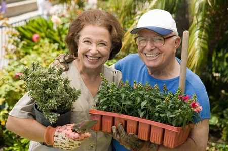 Senior Gardeners Stock Photo - 5435830
