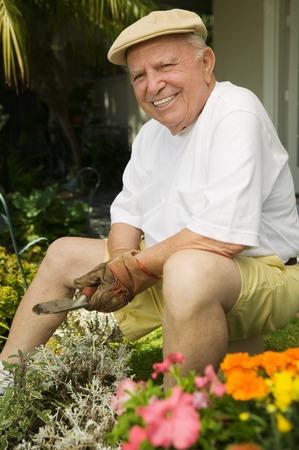 Senior Man Gardening Stock Photo - 5435831